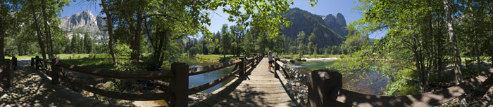 Merced River Wooden Bridge